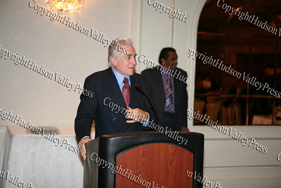 Congressman Maurice Hinchey thanks the Coalition for their endorsement during the Black and Hispanic Coalition's 13th Annual Fund Raiser and Dinner Dance at Anthony's Pier 9 on October 31, 2008.