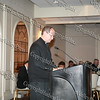 Father William Scafidi offers the invocation during the Black and Hispanic Coalition's 13th Annual Fund Raiser and Dinner Dance at Anthony's Pier 9 on October 31, 2008.