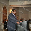 Runston Lewis serves as the Master of Ceremonies during the Black and Hispanic Coalition's 13th Annual Fund Raiser and Dinner Dance at Anthony's Pier 9 on October 31, 2008.