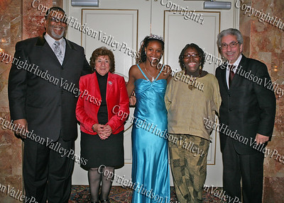 Rev. Nelson McAllister, City of Newburgh Councilwoman Reginal Angelo, Glenn Hines Boys & Girls Club 2008 Youth of the Year Dotrine Jacobs, City of Newburgh Councilwoman Marge Bell and City of Newburgh Mayor Nicholas Valentine at the Glenn Hines Boys & Girls Club 1st Dinner Dance held at Anthony's Pier Nine in New Windsor on Friday, October 3, 2008.