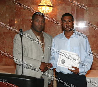 Will Williams receives an award during the Glenn Hines Boys & Girls Club 1st Dinner Dance held at Anthony's Pier Nine in New Windsor on Friday, October 3, 2008.