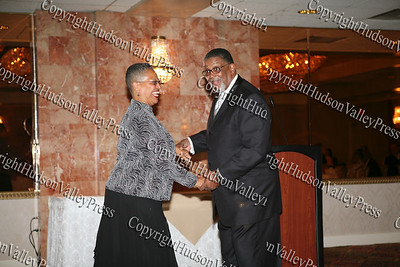 Henrietta Warner and Rev Nelson McAllister share a dance during the Glenn Hines Boys & Girls Club 1st Dinner Dance held at Anthony's Pier Nine in New Windsor on Friday, October 3, 2008.
