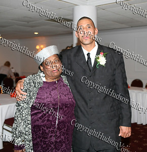 Lilliam Harris poses with NAACP award recipient Harold Rayford at the NAACP Freedom Fund Banquet held at the Spruce Lodge in Montgomery on Saturday, October 4, 2008.