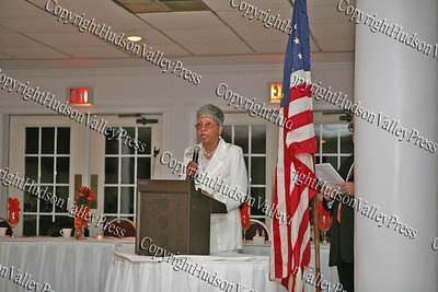 Sadie Tallie addresses those present at the NAACP Freedom Fund Banquet held at the Spruce Lodge in Montgomery on Saturday, October 4, 2008.
