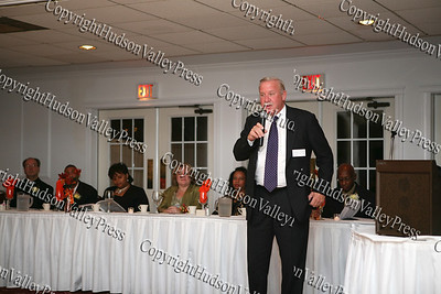 Judge Stephen Hunter addresses those present at the NAACP Freedom Fund Banquet held at the Spruce Lodge in Montgomery on Saturday, October 4, 2008.