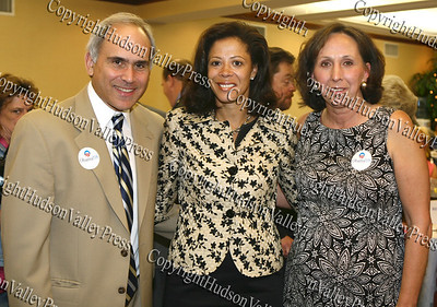Orange County Democratic chairman Jonathan Jacobson with New York's first lady Michelle Paterson and Sandra Sciortino, chairwoman of the Orange County Democratic Women, duing the annual Orange County Democratic Women's dinner.