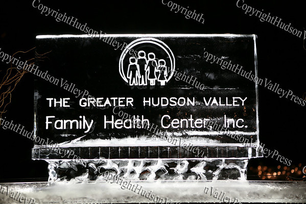 An ice sculpture adorns the reception area of the Greater Hudson Valley Family Health Center's 9th Annual Pillars of the Community Gala held at Anthony's Pier 9 on Saturday, November 8, 2008.