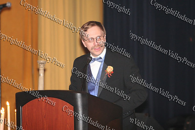 Pillar of the Community Honoree, Glen Heller of the law firm Drake, Loeb, Heller, Kennedy, Gogerty, Gaba & Rodd accepts his award at the 9th Annual Pillars of the Community Gala held at Anthony's Pier 9 on Saturday, November 8, 2008.