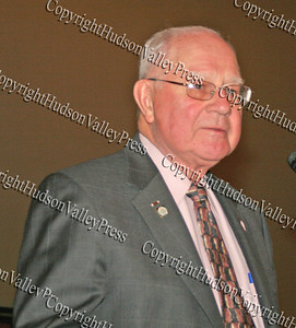 Sen. William Larkin gives his acceptance speech during the 10th Annual Tuskegee Airmen Tuition Assistance Dinner, held on February 2, 2008, at Anthony's Pier 9 in New Windsor, New York.