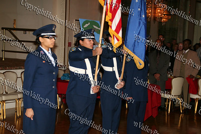 NFA ROTC Color Guard at the 10th Annual Tuskegee Airmen Tuition Assistance Dinner, held on February 2, 2008, at Anthony's Pier 9 in New Windsor, New York.