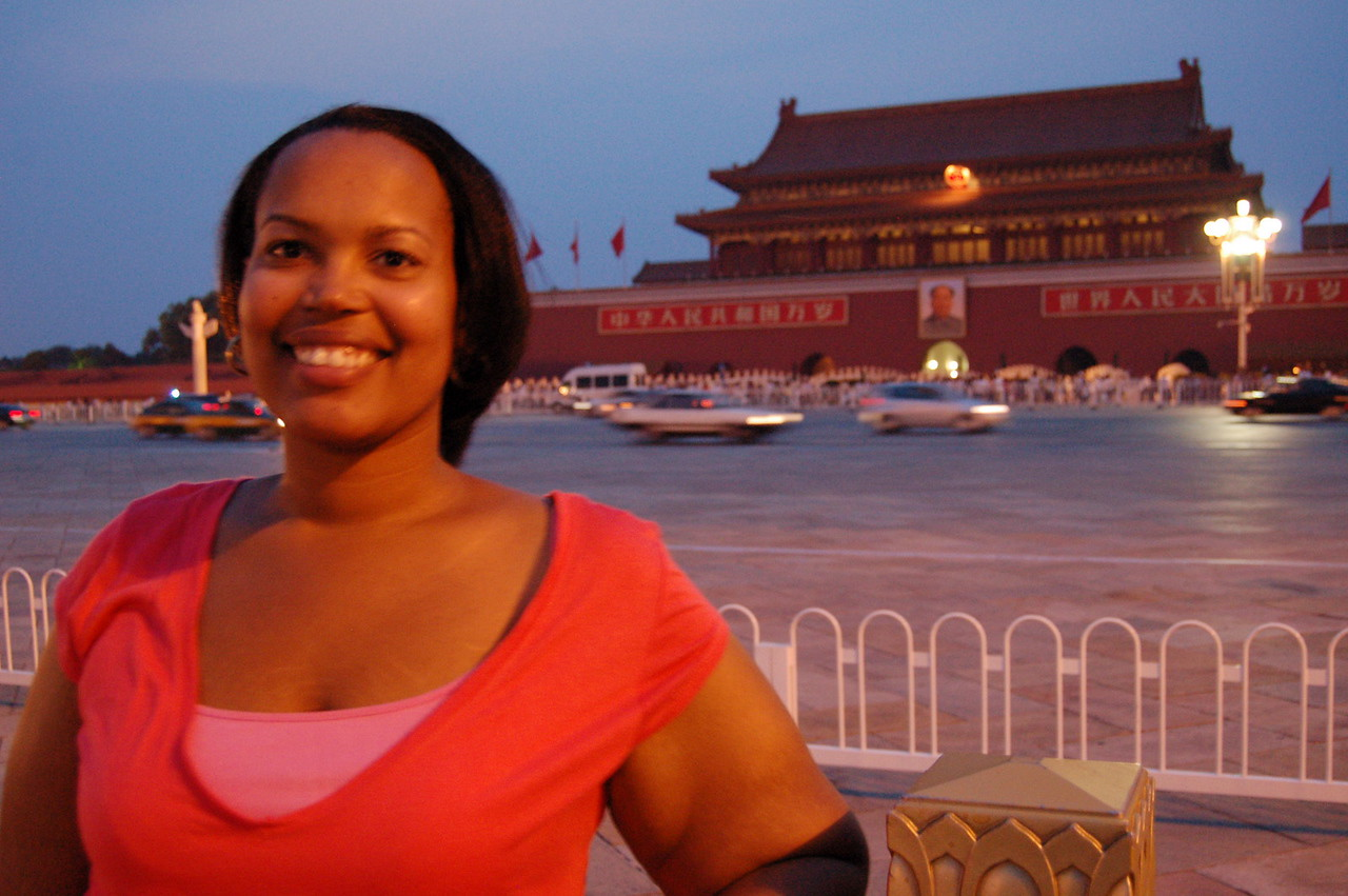 Sherry in Tiananmen Square
