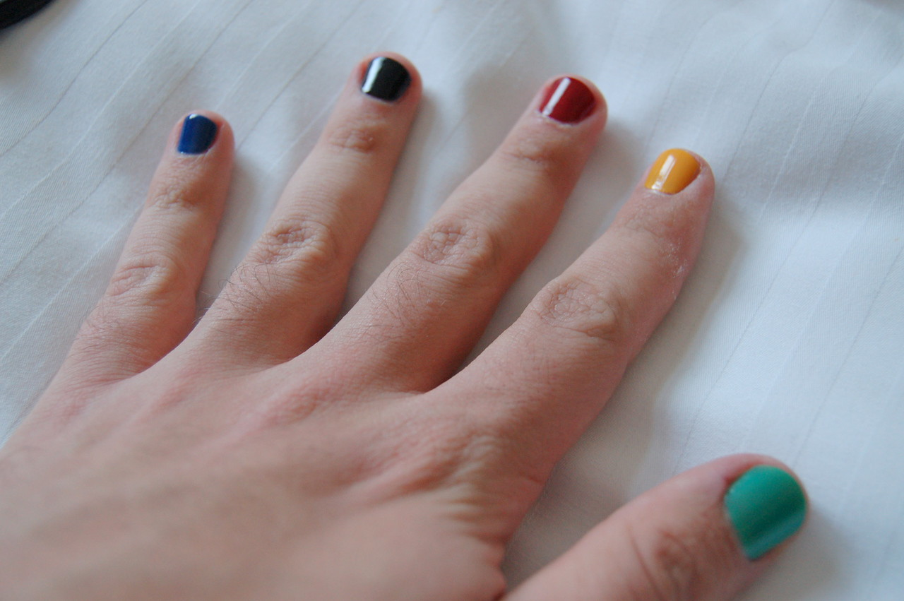 My Olympic nails