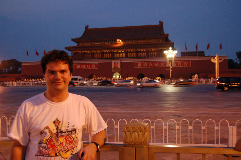 Matt in Tiananmen Square