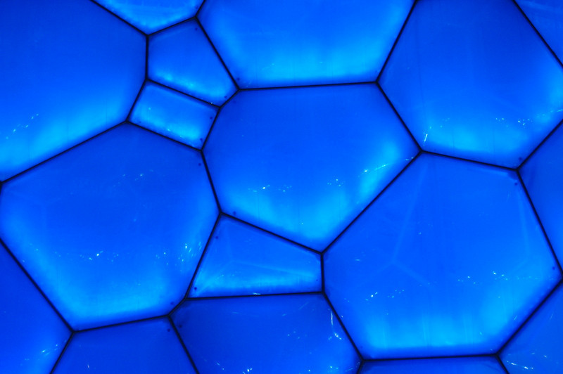 Water cube bubbles