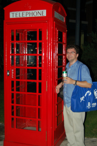 Team GB's red telephone box