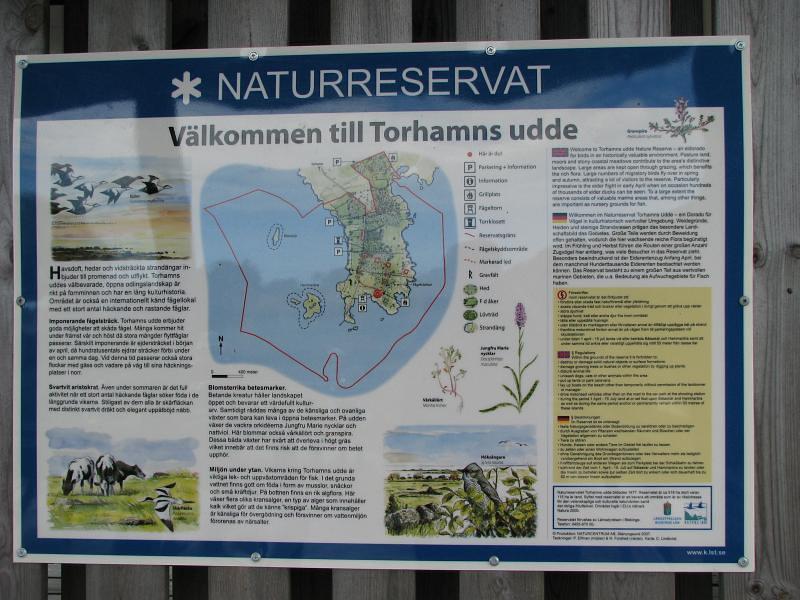 Skylten vid Torhamns Udde
