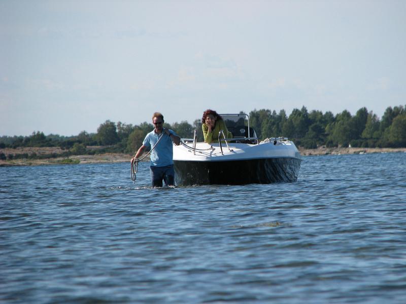 Båtförflyttning vid Tobisaflöten