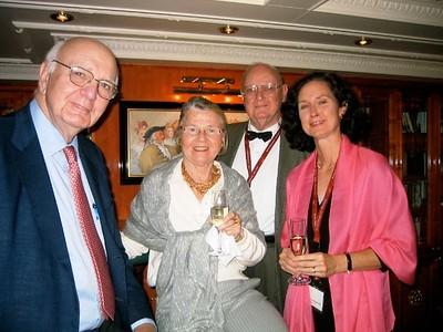 Paul, Anke, Don and Deneen on the last night on the Casanova - Livia McCarthy