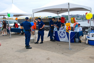 Let's hear it for the Coast Guard!!! Three Cheers!!! This was their tent with Coastie information.