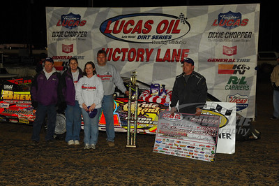 Terry Casey and crew in Victory Lane