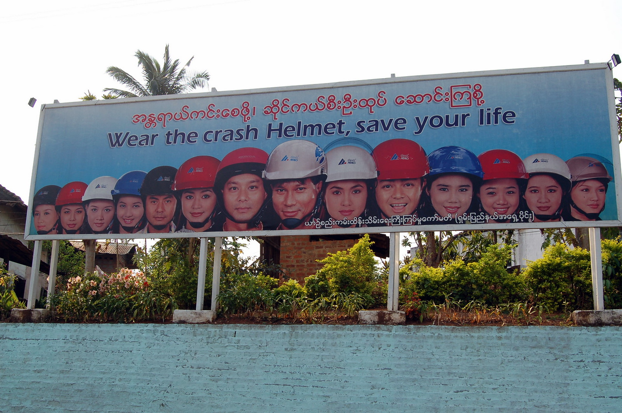 Wear the crash helmet, save your life