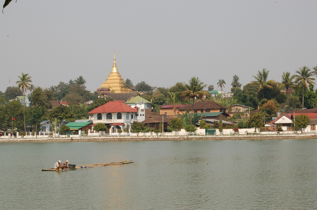 Temple and lake