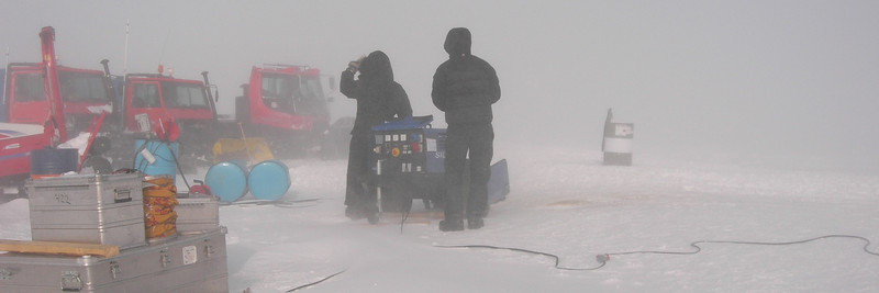 "The generator has stopped working. <br /> <br /> Generatoren er brudt sammen.<br /> <br /> Photo: Jim Hedfors (Swedish Geotechnical Institute), NEEM ice core drilling project,  <a href=""http://www.neem.ku.dk"">http://www.neem.ku.dk</a>"