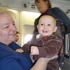 Kaylie's first plane ride