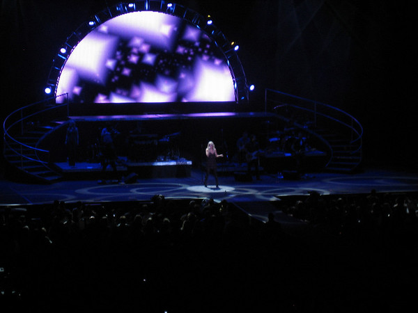 Carrie Underwood singing some song, forget which one. The video screen behind her was pretty awesome.