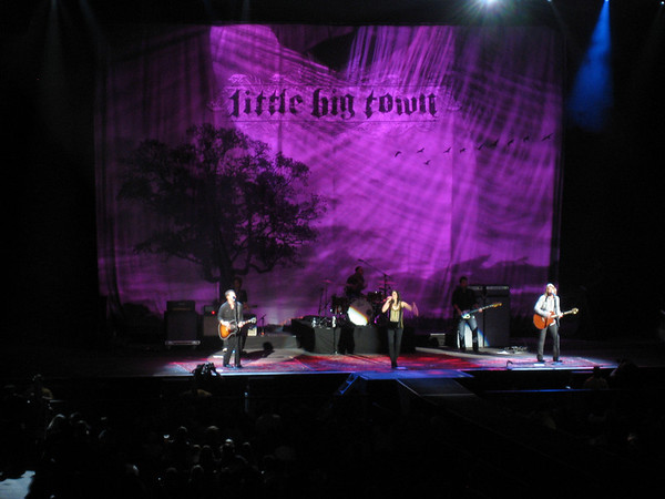 Little Big Town opened for Carrie Underwood. They were actually pretty sweet. I thought black haired chica was pretty cute!
