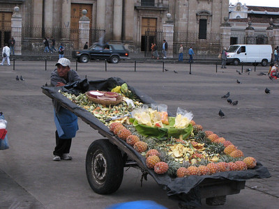Vegetable cart.