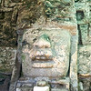 Magnificent head carving at the Mask Temple.