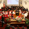 Elder Dr. Sheila Gillams offers words of comfort during the funeral service of Bishop Johnson on Monday, October 6, 2008 at Mt. Carmel Church in the Town of Newburgh.
