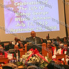 Elder Clifford Mitchell offers words of comfort during the funeral service of Bishop Johnson on Monday, October 6, 2008 at Mt. Carmel Church in the Town of Newburgh.