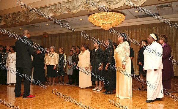 Ebenezer Baptist Church Centennial Choir performs during the banquet at Anthony's Pier 9 on Friday, November 7, 2008.