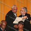 City of Newburgh Mayor Nicholas Valentine presents Diaconate Ministry Chair, Deacon Marion Campbell with a certificate of recognition at Ebenezer Baptist Church's 100th anniversary banquet at Anthony's Pier 9 on Friday, November 7, 2008.