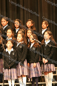 Nora Cronin Presentation Academy sings during The 15th annual Martin Luther King, Jr Community-Wide Celebration's annual program at Newburgh Free Academy.