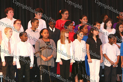 Gidney Ave School Singers perform during The 15th annual Martin Luther King, Jr Community-Wide Celebration's annual program at Newburgh Free Academy.