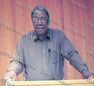 Rev Sylvester McClearn, in a pre-recorded message during The 15th annual Martin Luther King, Jr Community-Wide Celebration's annual program at Newburgh Free Academy.