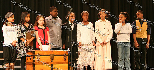 The Horizon Players perform a short play during The 15th annual Martin Luther King, Jr Community-Wide Celebration's annual program at Newburgh Free Academy.