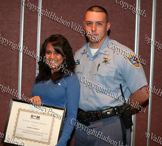 Monica Landron and Deputy Sheriff Edwin Ramirez jr