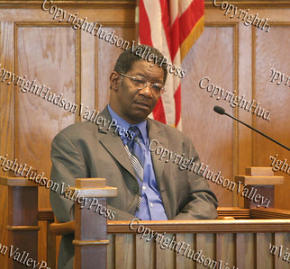 Raymond Scott Miller, the great-great grandson of Dred Scott, was present at the Dred Scott Seminar at the Dutchess County Courthouse in Poughkeepsie on April 12, 2008.