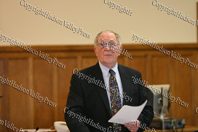 Dr. Edward J. Shaughnessy focused his remarks on the 'dissenters' views in the Dred Scott case at the Dutchess County Courthouse in Poughkeepsie on April 12, 2008.