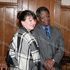 Former City of Poughkeepsie Mayor Nancy Cozean and Raymond Scott Miller, the great-great grandson of Dred Scott, pose for a picture following a discussion on the Dred Scott case at the Dutchess County Courthouse in Poughkeepsie on April 12, 2008.