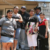 Habitat for Humanity of Greater Newburgh partner family (Cruz) on the front steps of their new home prior to the dedication ceremony on Saturday, June 7, 2008.