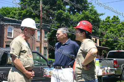 Clive Rainey, William Kaplan and Jessica Sun on day one of the Builders Blitz