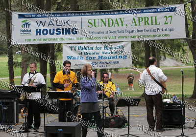 The band Soul Custody performs prior to the walk