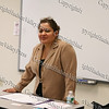 """Workshop facilitator Maritza Ovsak of Family of Woodstock discusses self-esteem improvement, consciousness of self motivation to set goals and breaking patterns of pleasure behaviors during the """"How to be Proud"""" conference."""