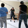 Workshop facilitator Eileen Batien teaches Zumba!, a Latin dance fitness program that empowe's all participants.