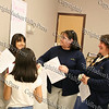 """Workshop facilitators Hada Reed (right) and Kathie Cayton (left) of Girls Scouts help girls develop a positive self image and make healthy choices during the """"How to be Proud"""" conference."""